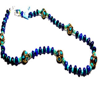 Vermeil Nepalese Lapis Lazuli Turquoise Necklace
