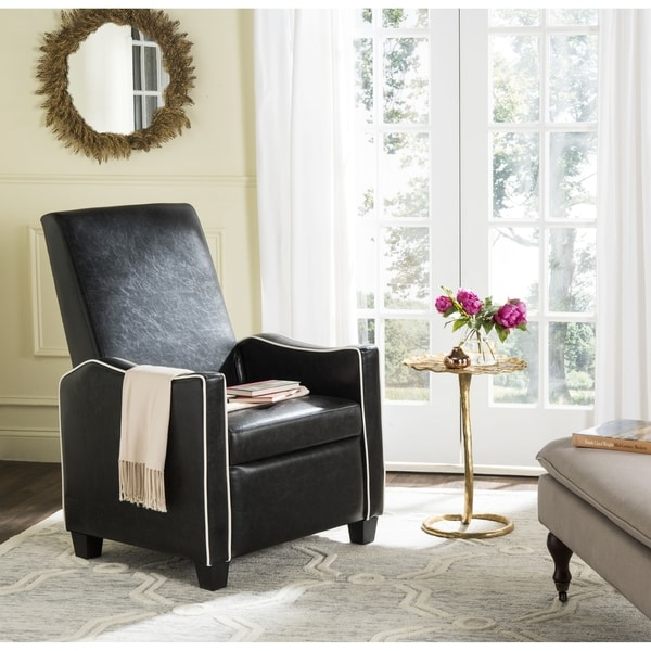 Safavieh Holden Black/ White Recliner Chair