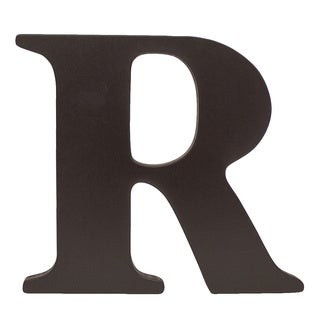 Little Haven Espresso Hanging Wall Letter R