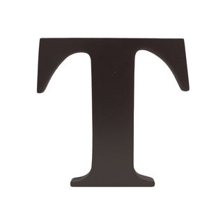 Little Haven Espresso Hanging Wall Letter T