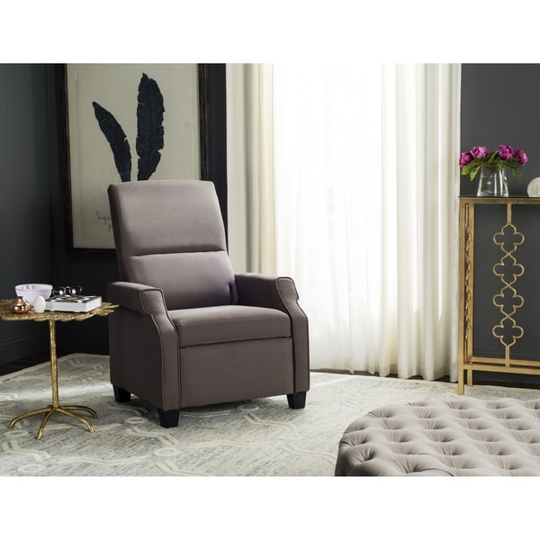 Safavieh Hamilton Dark Taupe Recliner Chair