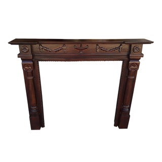 D-Art Oxford Mahogany 60-inch Fireplace Mantle (Indonesia)