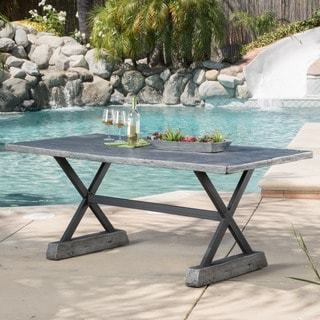 Christopher Knight Home Chalmette Outdoor Rectangle Dining Table