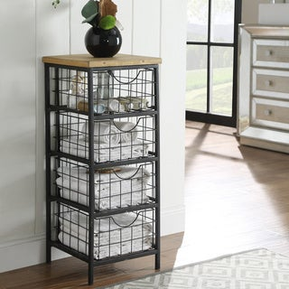 Oh! Home Metal and Wood Drawer Unit