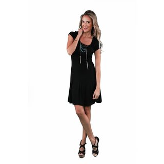 24/7 Comfort Apparel Women's Short Sleeve A-Line Dress