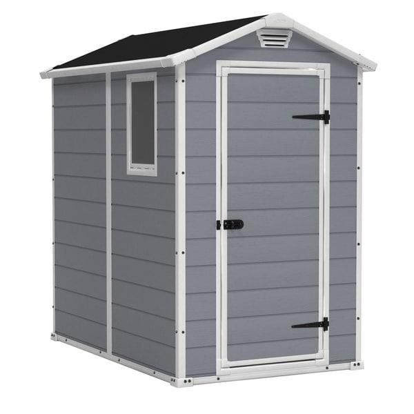 Keter manor 4 x 6 ft resin outdoor backyard garden for Garden shed 4 x 2
