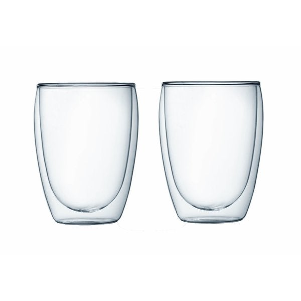 Bodum 4559-10US4 Pavina Double Wall Clear 12-ounce Glasses (Set of 2)
