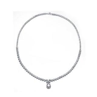 Collette Z Sterling Silver Cubic Zirconia Elegance Necklace