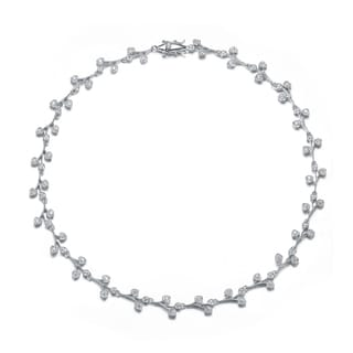 Collette Z Sterling Silver Cubic Zirconia Puzzle Necklace