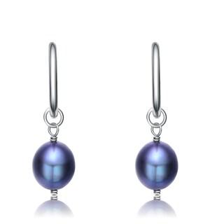 Collette Z Sterling Silver Blue Pearl Earrings