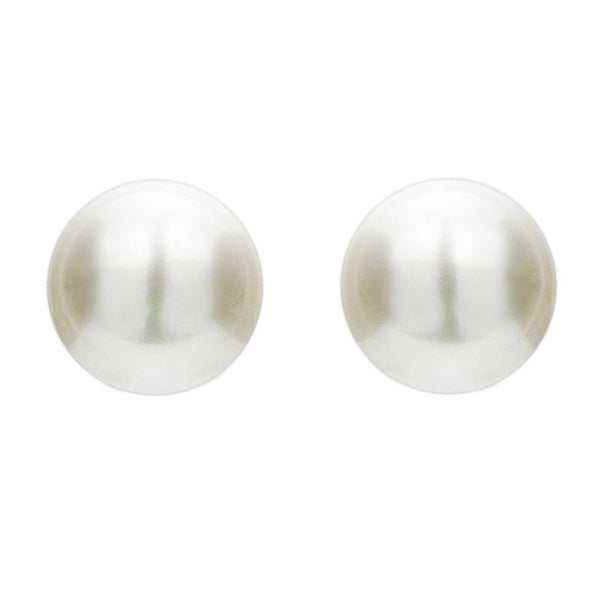 Collette Z Sterling Silver Faux Pearl Studs