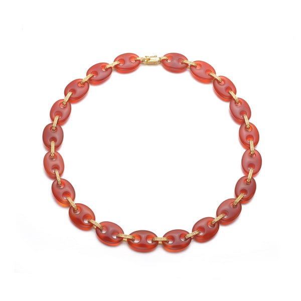 Collette Z Sterling Silver Red Stone Necklace