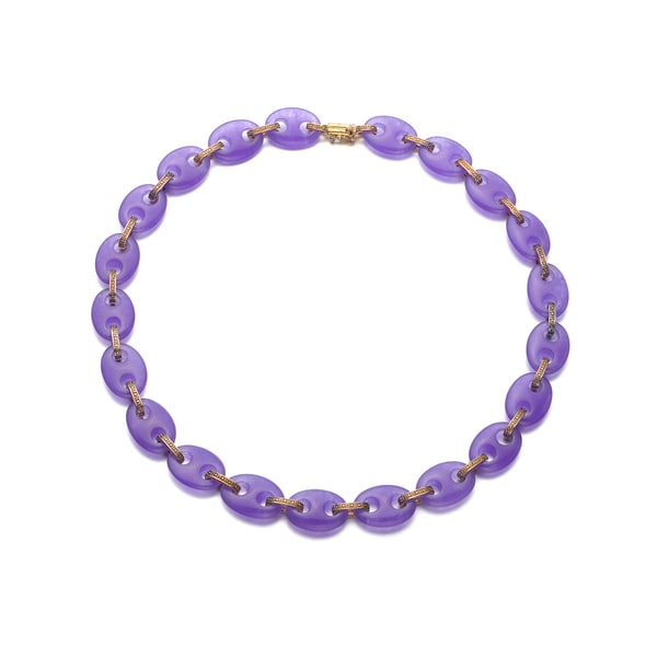 Collette Z Sterling Silver Purple Stone Necklace