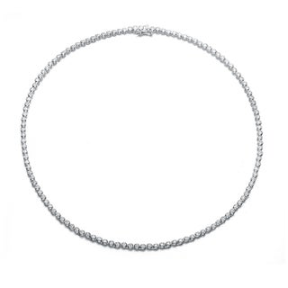 Collette Z Sterling Silver Clear Cubic Zirconia 2MM Necklace