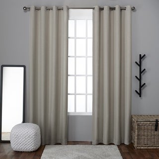 ATI Home Loha Linen Grommet Top Window Curtain 96-inch Length Panel Pair