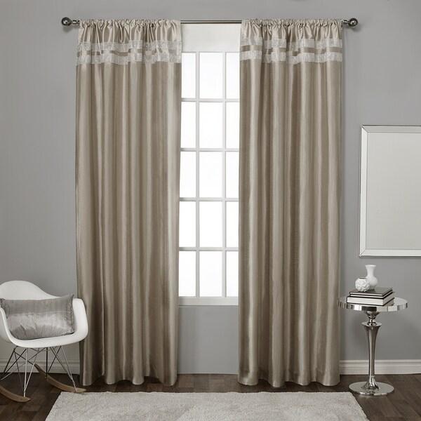 ATI Home Glitz Rod Pocket Window Curtain Panel Pair