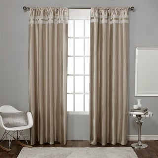 ATI Home Glitz Rod Pocket Window Curtain Panel Pair
