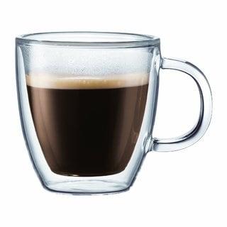 Bodum 10602-10 Bistro Double-Wall Insulated Glass Espresso Mugs (Set of 2)