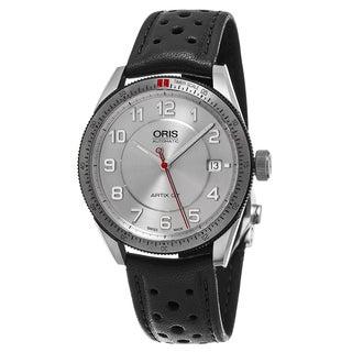 Oris Unisex 733 7671 4461 LS 'Artix GT' Silver Dial Black Leather Strap Date Swiss Automatic Watch
