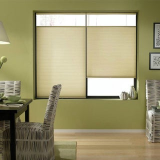 Cordless Top Down Bottom Up Cellular Shades in Ivory Beige (51 to 51.5 Inches Wide)