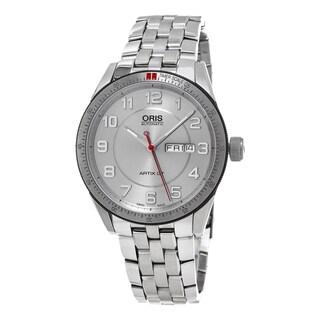 Oris Men's 735 7662 4461 MB 'Artix GT' Silver Dial Stainless Steel DayDate Swiss Automatic Watch