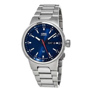 Oris Men's 735 7716 4155 MB 'Williams F1' Blue Dial Stainless Steel Day Date Swiss Automatic Watch