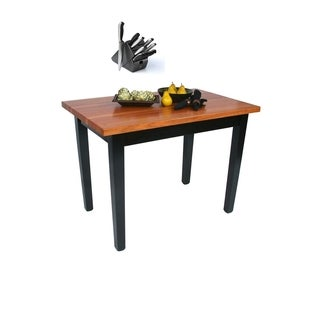 John Boos 48x30-inch Cherry RN-C4830 Butcher Block Table and 13-piece J.A. Henckels Knife Set