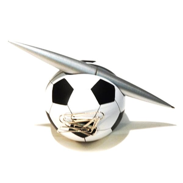 Elegance Soccer Pen Holder with Clip Dispenser