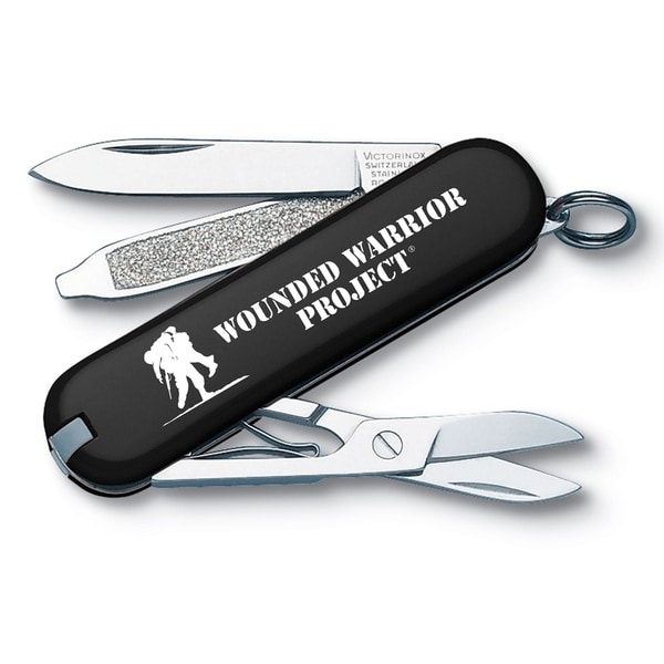 Victorinox Classic SD Black Wounded Warrior Swiss Army Knife