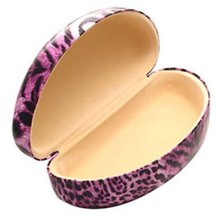 Leopard Pattern Hard Curved Cover Eyewear Case