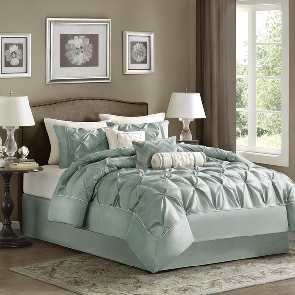 Madison Park Florence Dusty Blue Comforter Set