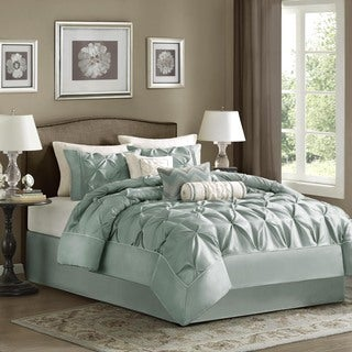 Madison Park Florence Dusty Blue 7-piece Comforter Set