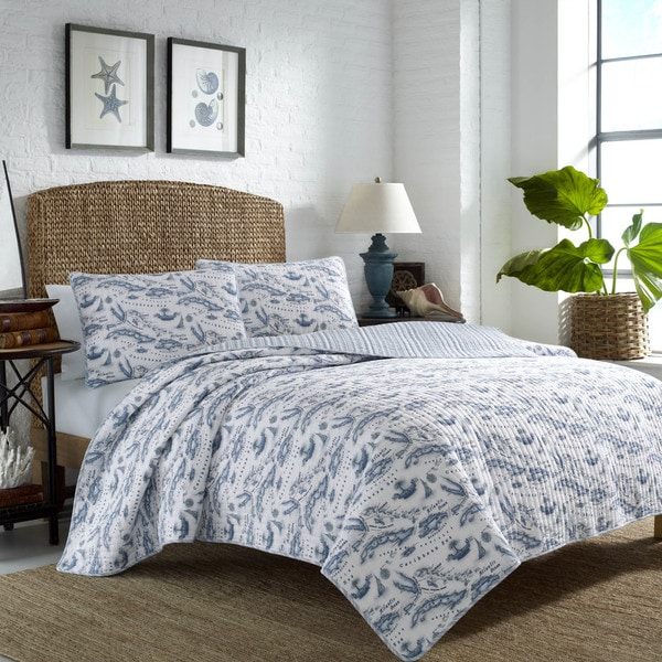 Tommy Bahama Caribbean Sea Map Quilt Set