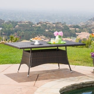 Christopher Knight Home Corsica Outdoor Wicker Rectangle Dining Table (ONLY)
