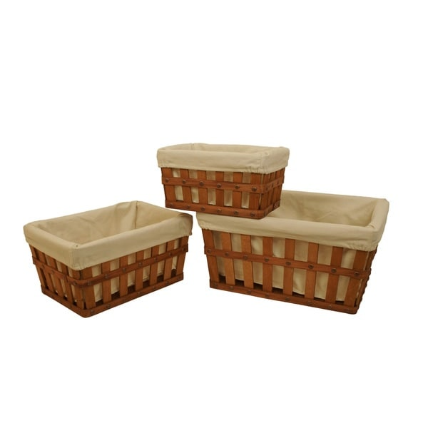 Square Shaker Lined Storage Tote Set Of  Free Shipping On Orders