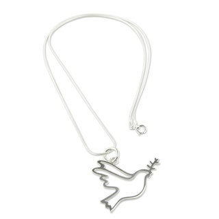 Handcrafted Sterling Silver 'Quechua Dove' Necklace (Peru)