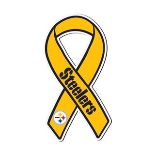 Pittsburgh Steelers Sports Team Logo Ribbon Magnet