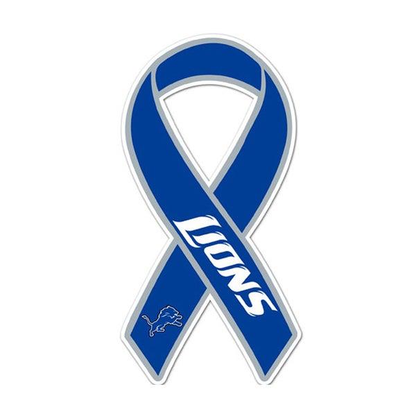 Detroit Lions Sports Team Logo Ribbon Magnet