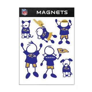 Baltimore Ravens Sports Team Logo Family Magnet Set