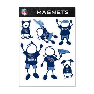 Tennessee Titans Sports Team Logo Family Magnet Set