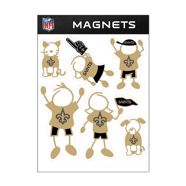 New Orleans Saints Sports Team Logo Family Magnet Set