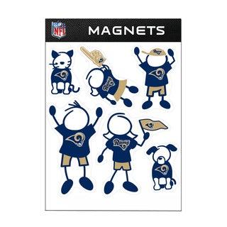 St. Louis Rams Sports Team Logo Family Magnet Set