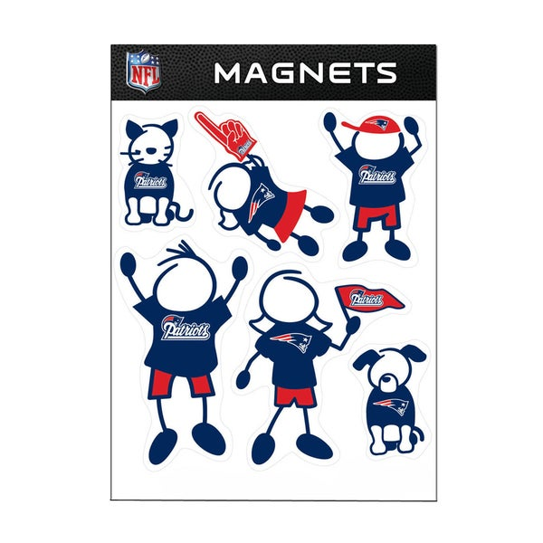 New England Patriots Sports Team Logo Family Magnet Set
