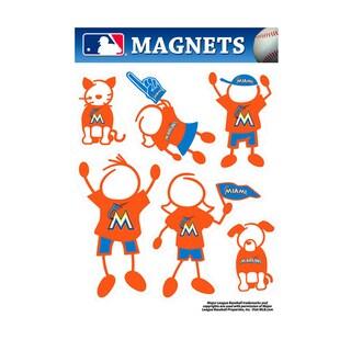 Miami Marlins Family Magnet Set