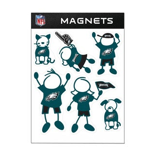 Philadelphia Eagles Sports Team Logo Family Magnet Set