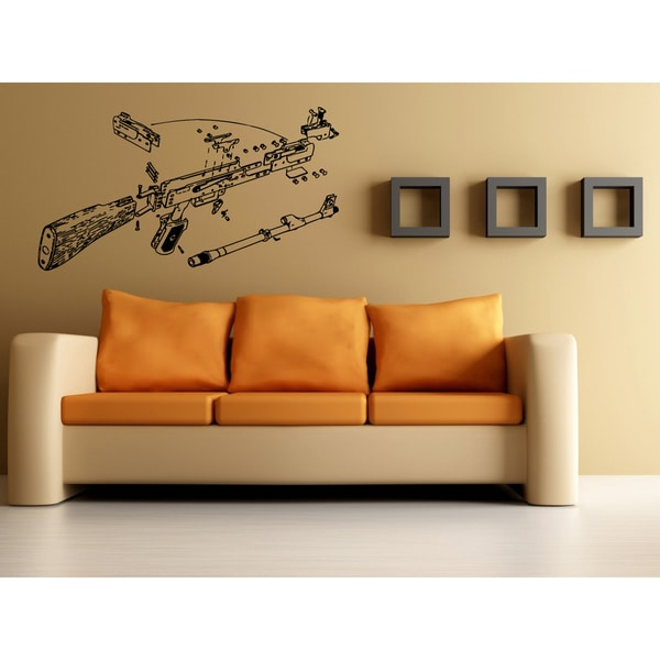 Weapons in the analysis Wall Art Sticker Decal