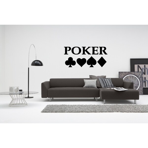 Card Poker Wall Art Sticker Decal