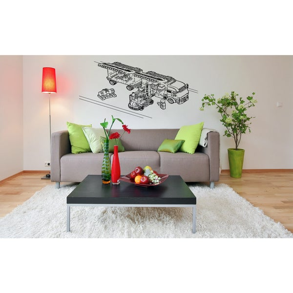 Lego fire station Wall Art Sticker Decal