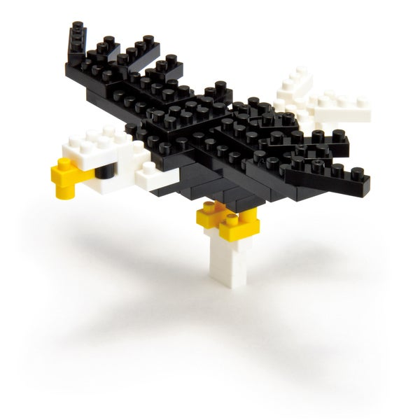nanoblock Animals Level 1 Bald Eagle: 60 Pieces