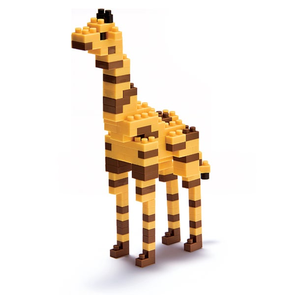 nanoblock Animals Level 3 Giraffe: 130 Pieces